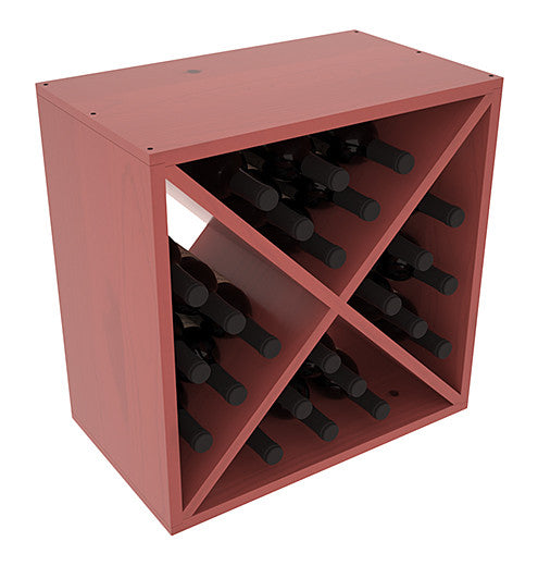 24 Bottle Solid X-Cube - Pine