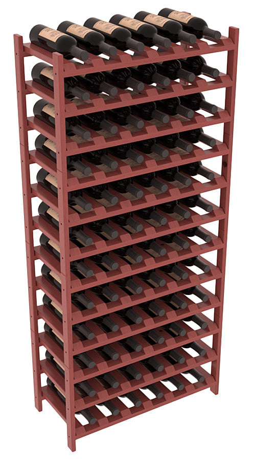 72 Bottle Stackable Wine Shelving - Pine
