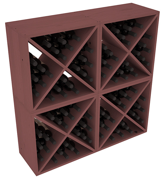 24 Bottle Solid X-Cube (x4) - Pine