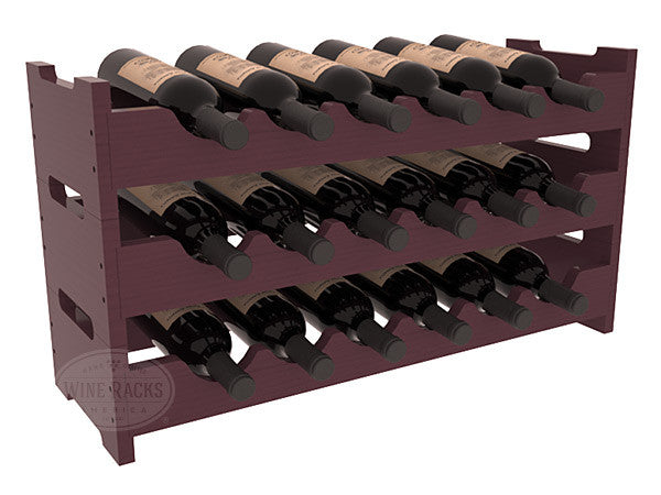 18 Bottle Mini Scalloped Wine Rack - Pine