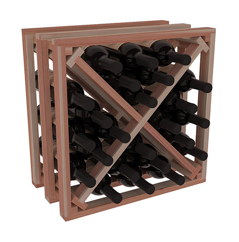 36 Bottle Deluxe Style Wine Rack - Redwood