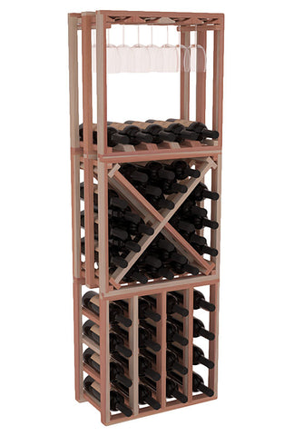 45 Bottle Stacking Lattice Cubes (3 PC) - Redwood