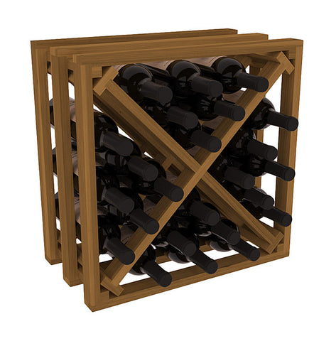 24 Bottle Stacking Lattice Cube - Redwood