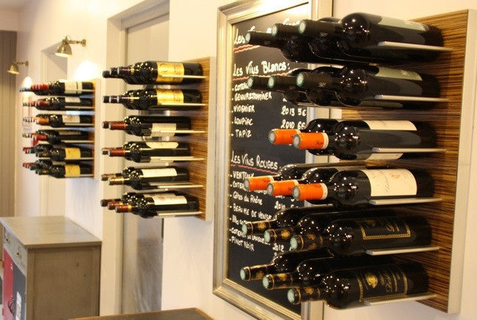 stact wine rack zebrano