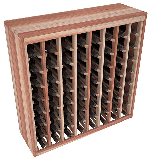 64 Bottle Deluxe Style Wine Rack - Redwood