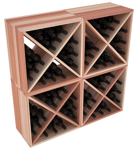 24 Bottle Solid X-Cube (x4) - Redwood