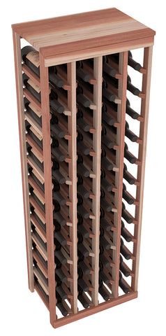 48 Bottle Table Top Wine Rack - Redwood
