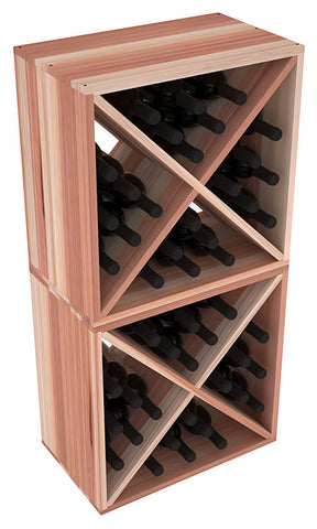 24 Bottle Solid X-Cube (x2) - Redwood
