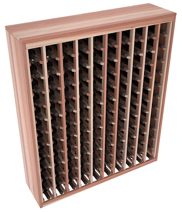 120 Bottle Deluxe Style Wine Rack - Redwood