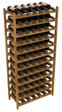 72 Bottle Stackable Wine Shelving - Redwood