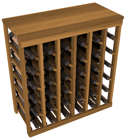 36 Bottle Table Top Wine Rack - Redwood