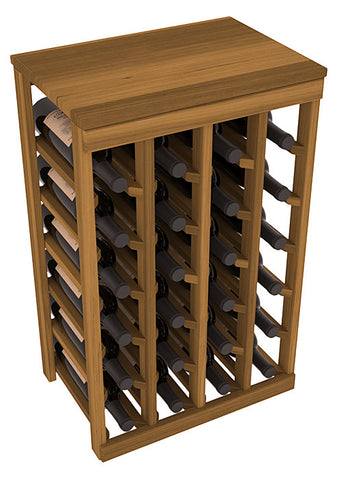 24 Bottle Table Top Wine Rack - Redwood