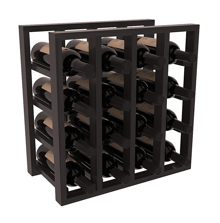 16 Bottle Stacking Lattice Rack - Redwood