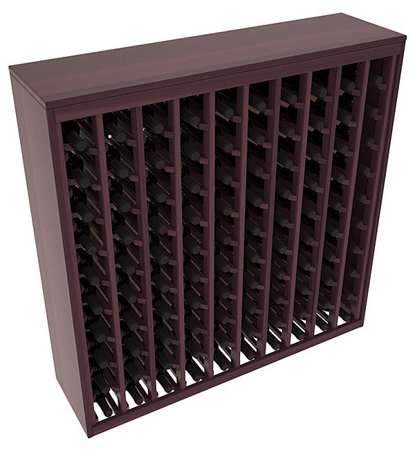 100 Bottle Deluxe Style Wine Rack - Redwood