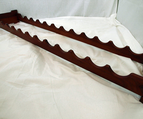 12 Bottle Scalloped Wine Rack - Pine w/Cherry Stain and Satin Finish