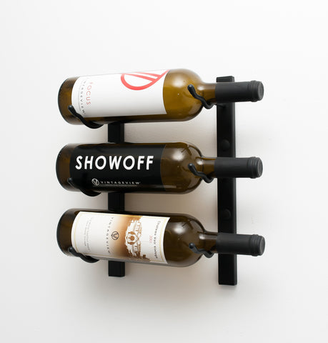 VintageView WS11 - 3 Bottle Wine Rack (1 Deep)