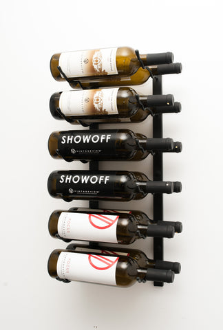 VintageView WS22 - 12 Bottle Wine Rack (2 Deep)