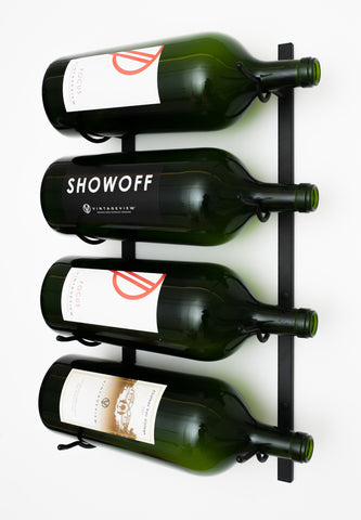 VintageView BIG1 - 4 Bottle Rack for 3L-6L Bottles