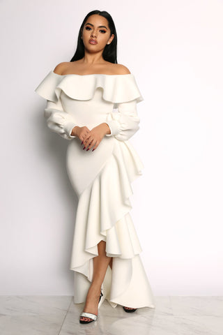 CLEARLY DEVOTED DRESS - IVORY