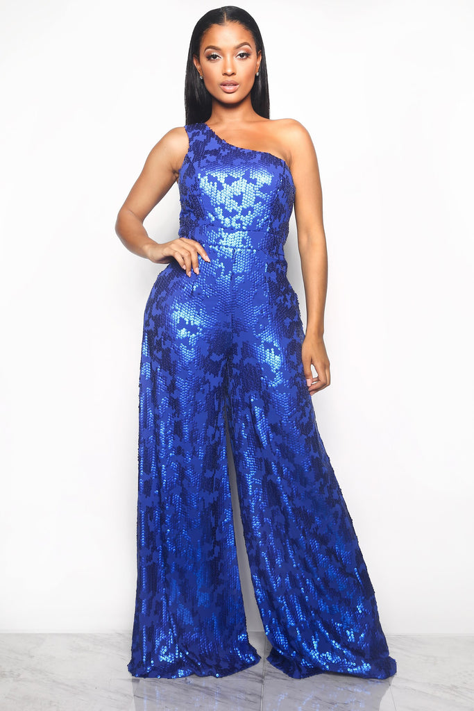 dd657fc586 FRONT ROW SEQUIN JUMPSUIT - BLUE (CUSTOM) – Intertwine Collection