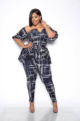ELEVATED GAME PLUS JUMPSUIT - NAVY