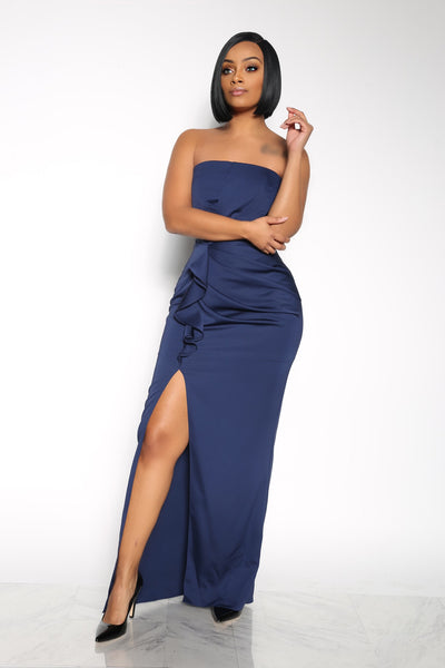 WHEN WE TOUCH DRESS - NAVY