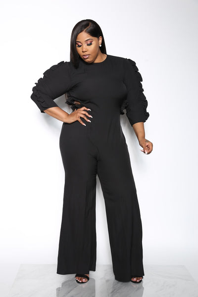 GIRLS TRIP PLUS JUMPSUIT - BLACK