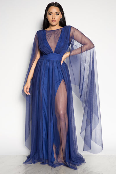 LOVE STRIKES DRESS - BLUE