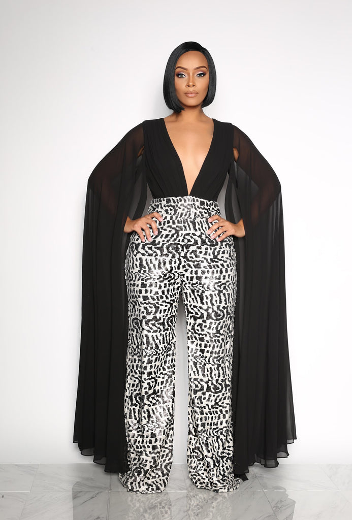 9167100ecae SLAY THE RUNWAY SEQUIN JUMPSUIT - BLACK MULTI-COLOR (CUSTOM) – Intertwine  Collection