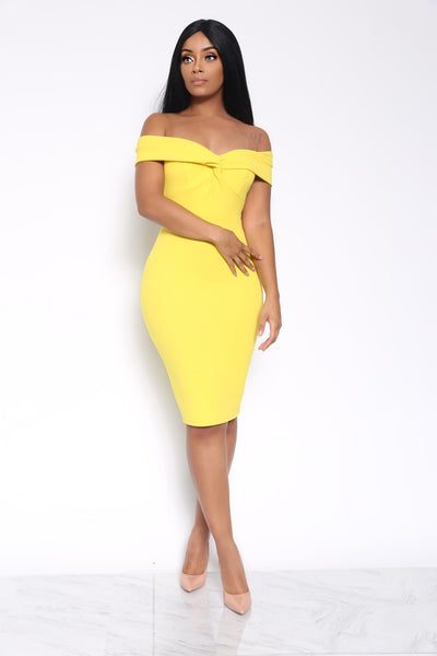 ALL ABOUT BUSINESS DRESS - YELLOW