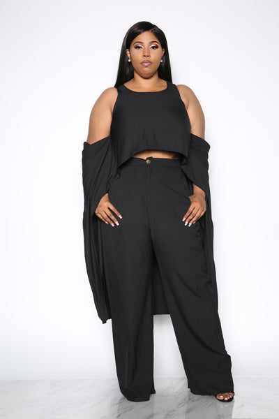 DOSE OF ME TWO PIECE SET - BLACK