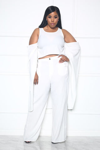 DOSE OF ME TWO PIECE SET - WHITE