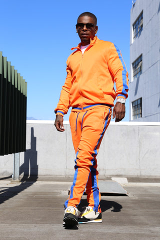 THE TAKEOVER MEN SWEAT SUIT - ORANGE