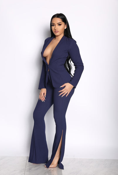 THE VP TWO PIECE SUIT - NAVY