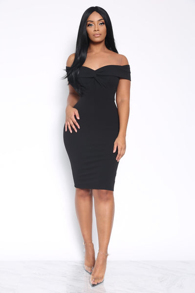 ALL ABOUT BUSINESS DRESS - BLACK