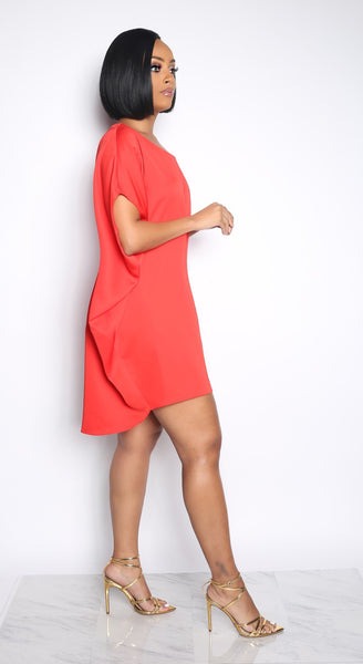 KEEP IT FLOWING DRESS - RED