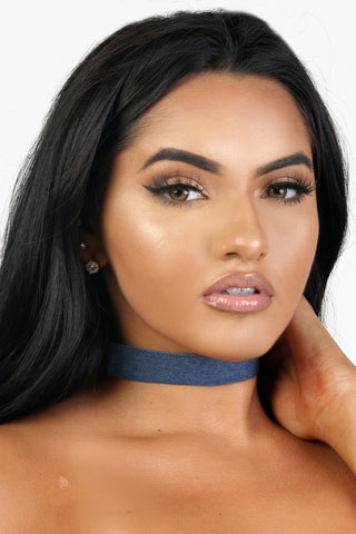 DARK DENIM CHOKER
