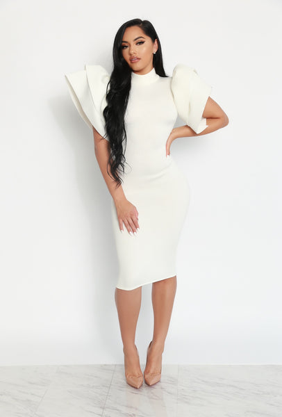 RSVP READY DRESS - WHITE