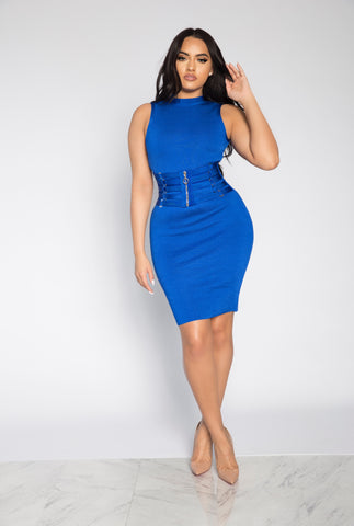 ACCESS RING CORSET BANDAGE DRESS