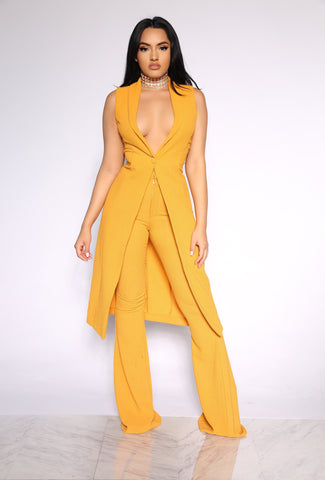 CLEARLY STUNNING 2-PIECE SET - CANARY YELLOW