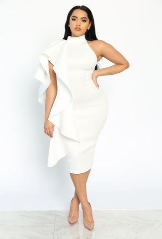 A STATEMENT DRESS - WHITE