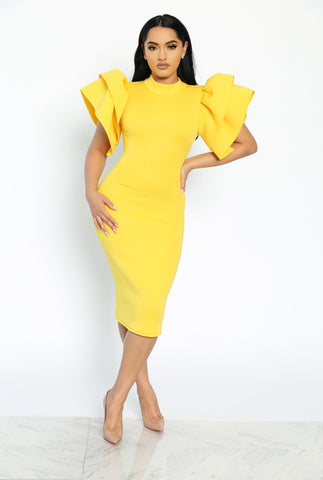 RSVP READY DRESS - YELLOW