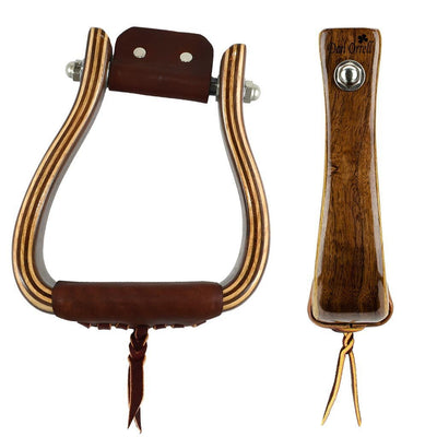 Don Orrell Stirrups Angled Flat Bottom Standard - Walnut / 2 inch