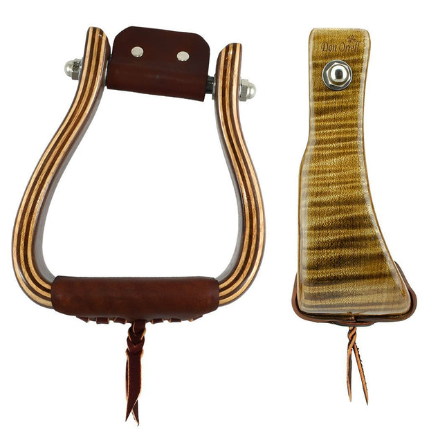 Don Orrell Stirrups Angled Offset Stirrup Premier - Tiger Maple / 3 inch