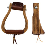 Don Orrell Stirrups Angled Offset Stirrup Rancher - Stained Oak / 3 inch