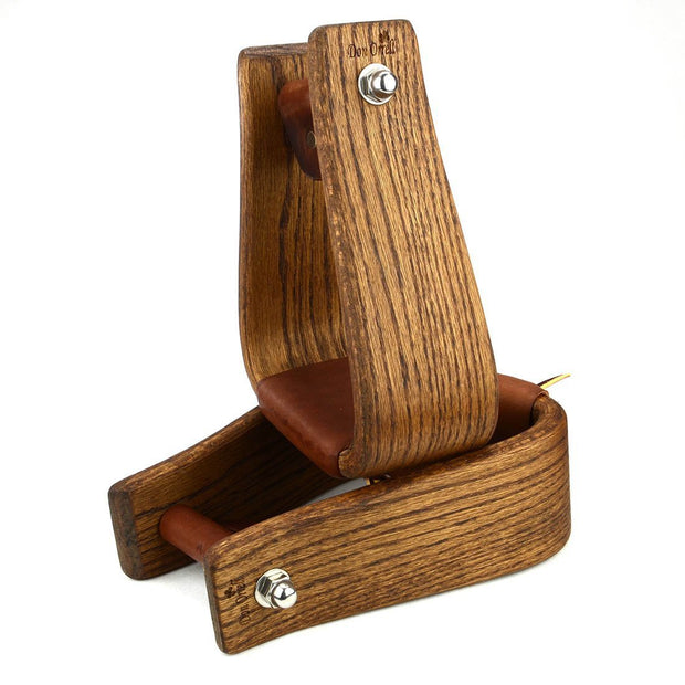Don Orrell Stirrups Angled Roper Stirrup Rancher - Stained Oak / 3 inch