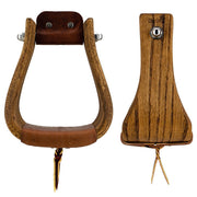 Don Orrell Stirrups Buckaroo Stirrup Rancher - Stained Oak / 4 inch