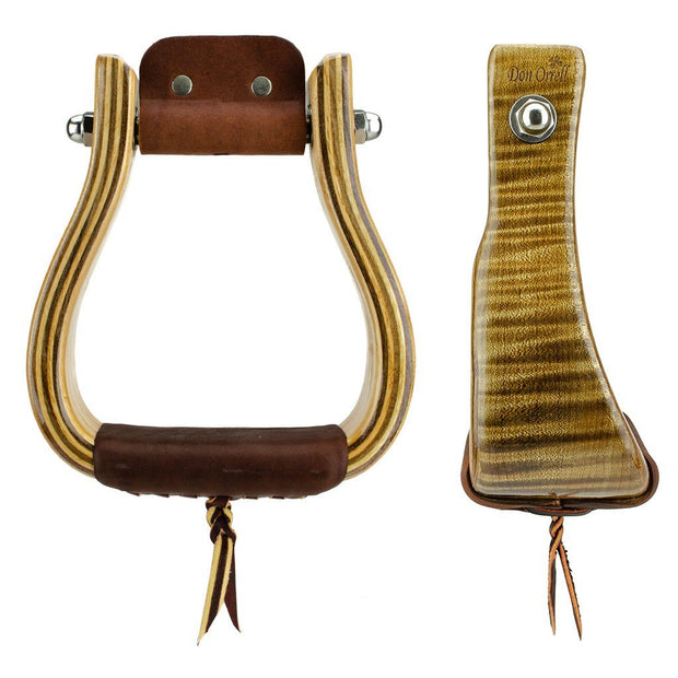 Don Orrell Stirrups Offset Stirrup Premier - Tiger Maple / 3 inch