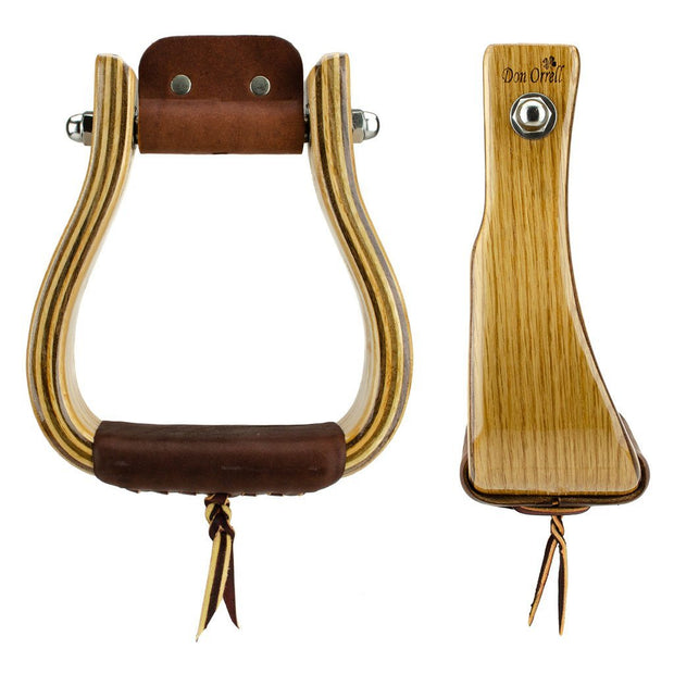 Don Orrell Stirrups Offset Stirrup Standard - White Oak / 3 inch