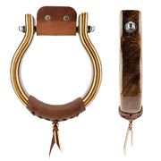 Don Orrell Stirrups Oxbow Stirrup Choice - Gunstock Walnut / 2 inch
